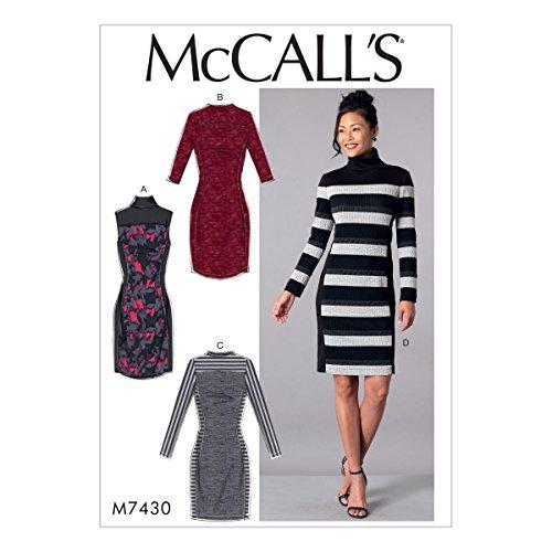 McCall 's Patterns McCall 's 7430A5, Schnittmuster Kleider, Größen 6–14, Tissue, Multi/Farbe