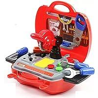All'inizio educativo Learning Set 19 pezzi Tool Kit giocattoli per i bambini Mini simulazione Toolkit Box
