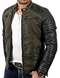 Red Bridge Jacke Herren Biker Kunst- Lederjacke R-41451W Redbridge
