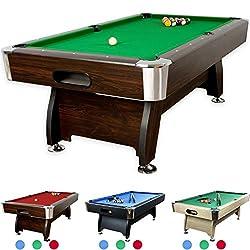 Simba Billardtisch Billard 7 FT Billard-Spiel mit Tischplatte und Containerb/änke