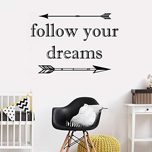hren Träumen Aufkleber Pfeile Zitat Wand Vinyl Aufkleber Tribal Thema Kinderzimmer Kunst Kinderzimmer Dekor Baby Dusche Wandtattoos 81x56cm ()