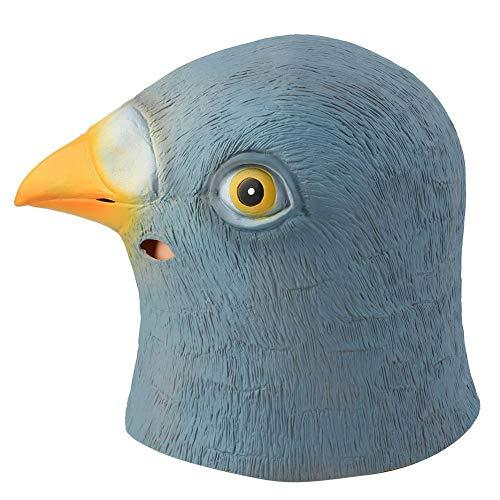 Kopf Kostüm Vogel - Cafopgrill Party Maske, Latex Taube Vogel Kopf Maske für Erwachsene Kostüm für Prom Party Prom Bachelorette Party und Kostüme