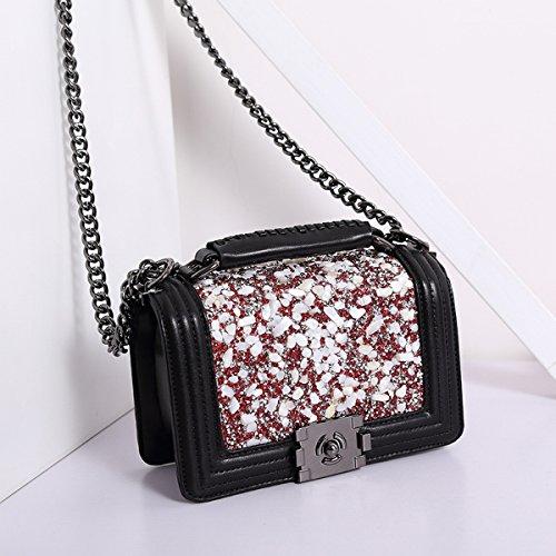Weibliche art und weisedamen diamanthandtasche Schulterschulter kleines quadratisches paketdiagonalpaket Whitehead Red Diamond