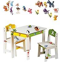 alles-meine.de GmbH 3 TLG. Set: Sitzgruppe für Kinder - aus sehr stabilen Holz - weiß - lustige .. - preisvergleich