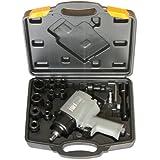 Jws - Mecanismo de llave de impacto de doble llave neumática martillo 850nm incluye estuche y accesorios [importado de alemania]