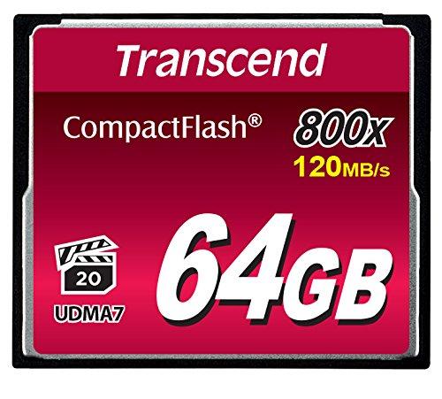 Transcend TS64GCF800 Ultra-Speed Compact Flash 64GB Speicherkarte (bis zu 120MB/s lesen)