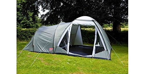51v mjXFqLL - Coleman Waterfall 5 Deluxe family tent, 5 Man Tent with Separate Living and Sleeping Area, Easy to Pitch, 5 Person Tent…