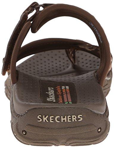 Skechers - Reggae rasta grise - Tongs claquettes Chocolate/Cream