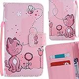 Yiizy Samsung Galaxy Grand Prime G530 Funda, Coño De Color Rosa Diseño Billetera Carcasa Estuches PU Cuero Cover Cáscara Protector Piel Ranura para Tarjetas Estilo