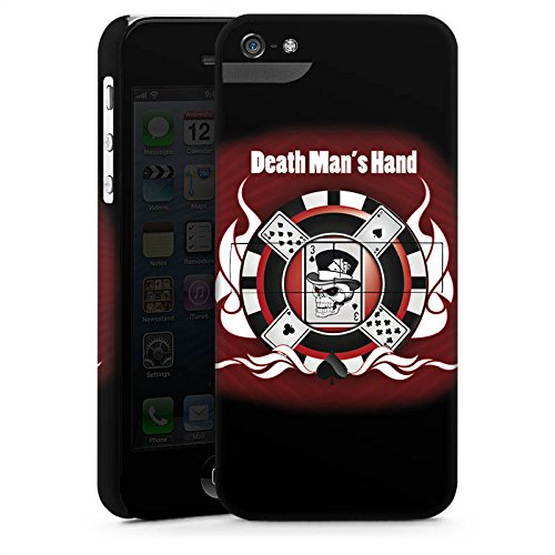 Apple iPhone X Silikon Hülle Case Schutzhülle Karten Totenkopf Poker Premium Case StandUp