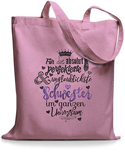 StyloBags Jutebeutel / Tasche Für die absolut perfekteste Schwester Rosa