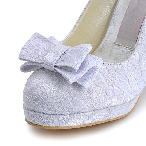 Kevin Fashion ,  Damen Modische Hochzeitsschuhe Style2-White