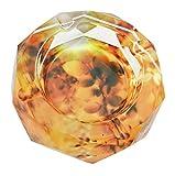 Clásica Naranja Otoño escena patrón transparente Octangle forma cristal...