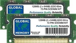 128Mo (2 x 64Mo) 72-PIN EDO SODIMM MÉMOIRE RAM KIT POUR ORDINATEURS PORTABLES