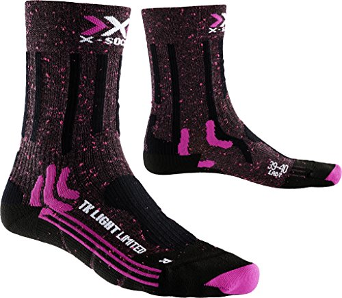 X-Socks Damen Trekking Light Limited Lady Socken, Pink/Black, 39/40 (Kanal Air Socken)