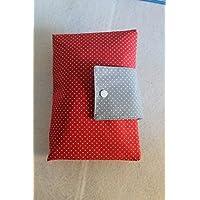 XXL Windeltasche grau rot Punkte