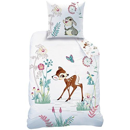Disney 045060Bambi Clairiere Bettwäsche für Kinder Baumwolle weiß 200x 140cm