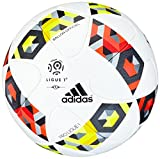 adidas Pro Ligue 1 Offizieller Spielball, White/Solar Red/Solar Yellow, 5