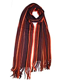 Unisex Mens Ladies Adult Multi Coloured Striped Knitted Warm Winter Scarf Adam