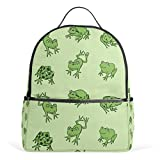 ALAZA Rana Divertida Mochila Animal para School Bookbag