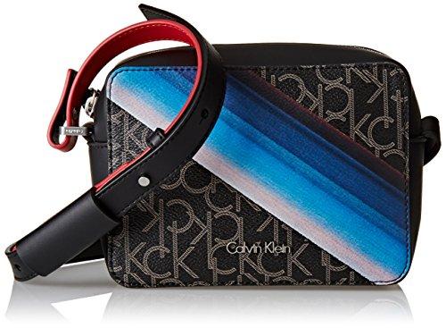 Calvin Klein Jeans Tin4 Small Crossbody, Sacs bandoulière Femme, Noir Black, 7 x17 x13 cm (B x H x T)