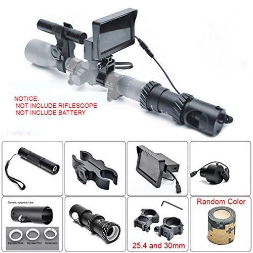 ANAN Mejora la visión Nocturna 100m Día y Noche Caza Mira telescópica Caza Visor de Alcance de Francotirador óptico