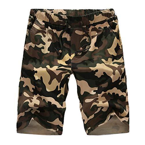 QWER Badeshorts Herren Wave Dot Camouflage Knopftasche Elastic Cord Overalls Shorts Komfortable Beach Sportliche Shorts Cord-overall