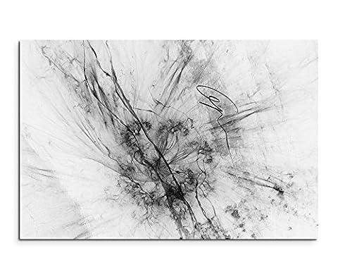 Abstrakt 1169 - 120x80cm SCHWARZ-WEISS Bilder - Wandbild Kunstdruck in XXL Format - Fertig Aufgespannt – TOP - Leinwand - Wand Bild - Kunst Bild - Wandbild abstrakt