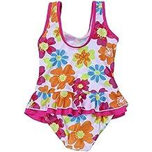 5a03bf4e107454 iiniim Mädchen Kinder Badeanzug Sommer Floral Print Bikini Einteiler  Schwimmanzug Kleinkind Bademode Gr.86-