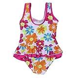 iiniim Mädchen Kinder Badeanzug Sommer Floral Print Bikini Einteiler Schwimmanzug Kleinkind Bademode Gr.86-116 Mehrfarbig 98-104/3-4 Jahre