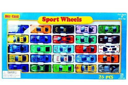 25 Stück Spielzeugauto für Parkgarage PKW Set 6 cm