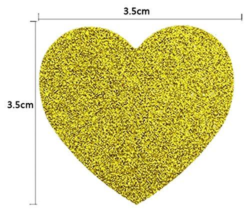 SMHILY 25STÜCK Hochzeitsbevorzugungs-Beutel-Brautparty-Hochzeits-Geburtstags-Jahrestags-Bevorzugungs-Süßigkeits-Geschenk-Papiertüte-Rosa und Goldfolien-Herz