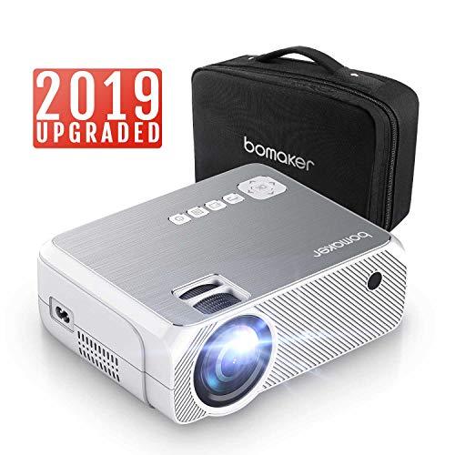 BOMAKER Proyector 3600 Lúmenes LED, Mini Proyector Portátil de 1280 x 720p,...