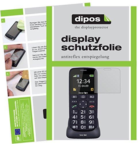dipos I 2X Schutzfolie matt passend für bea-fon SL240 Folie Displayschutzfolie