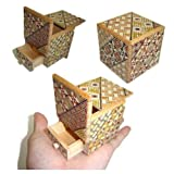 2 Sun 4 Steps Cube Secret DRAWER - Japanese Puzzle Box by Winshare Puzzles and Games