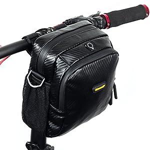 Sacchetto manubrio, NTMY sacchetto bicicletta impermeabile con sacchetto trasparente in PVC e cinghia tracolla rimovibile