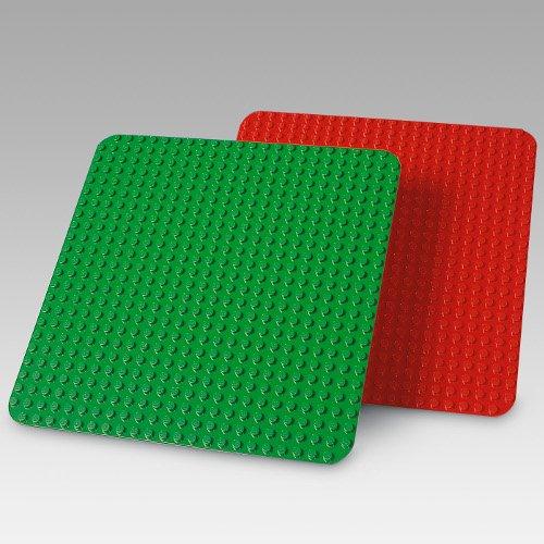 LEGO® DUPLO® Bauplatten 1 x rot 1 x grün 38 x 38 cm 9071