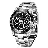 Pagani Design Herren Quarz Chronograph wasserdicht Uhren Business Casual Edelstahlarmband Armbanduhr für Männer