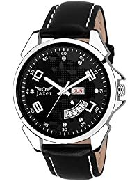 Jaxer Day And Date Black Dial Analog Watch For Men & Boys - JXRM2108