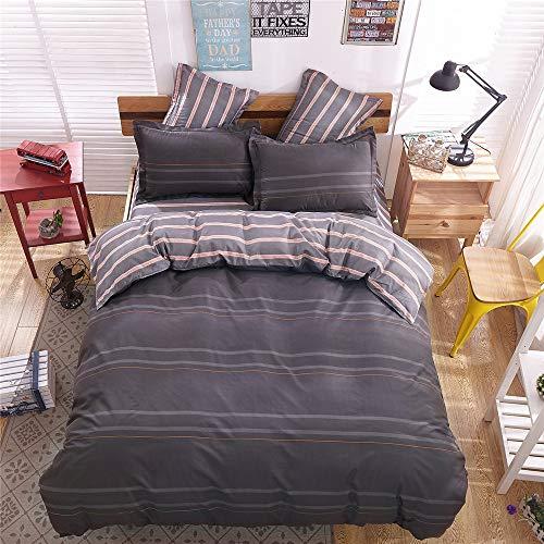 YUNSW Baumwolle Bettbezug Schlafzimmer Twin Voll Königin König Bettwäsche Bettbezug Tröster Abdeckung Bettwäsche Home Plaid B 150x200 cm - Set-blau-gold König Tröster