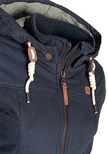 DESIRES Lewy Damen Winterjacke Kurzjacke mit Kapuze aus hochwertiger Baumwollmischung Insignia Blue (1991)