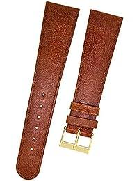 Fortis 8808 - Correa para reloj de pulsera, piel, 20 mm, color marrón  con costura marrón