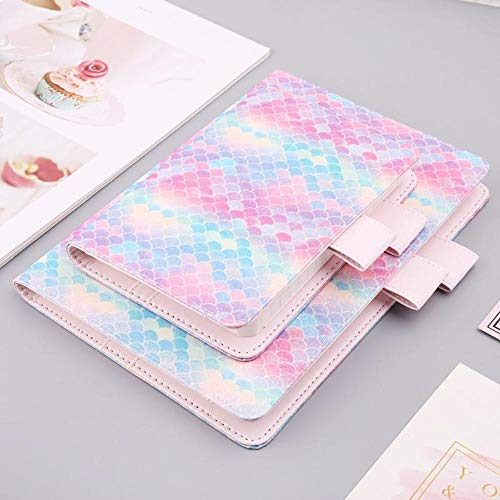 A5 A6 Fish Scale Sequin Notebook Diary Weekly Planner Journal Agenda Organizer Travelers Faux Leather Cover School Supplies