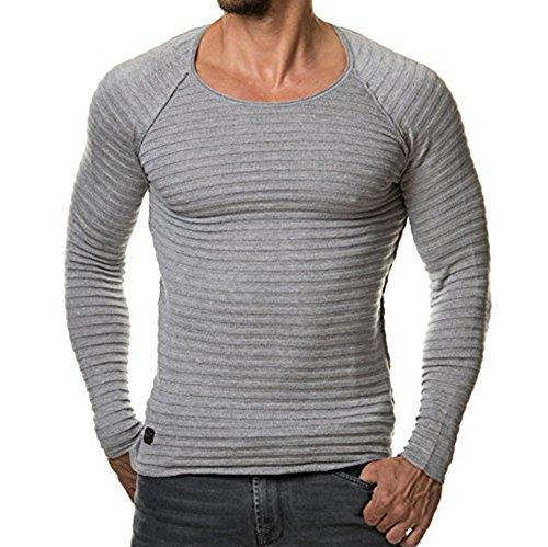 Mxssi Men Shirt Knitted Shirt Casual Tops Blouse Long Sleeve Knitted Sweatshirt Classic Tshirt Cotton Basic Shirts Slim Fit Sweatshirts Black White Gray Navy Blue Army Green Red S M L XL XXL