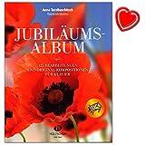 Jubiläumsalbum Tastenträume von Anne Terzibaschitsch - 125 Bearbeitungen und Original-Kompositionen für Klavier - Noten bunter herzförmiger Notenklammer