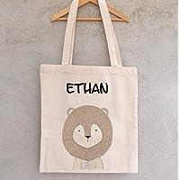 Tote Bag Petit Lion à personnaliser - sac renard à personnaliser - sac shopping - sac de course - sac personnalisé - tote bag personnalisé