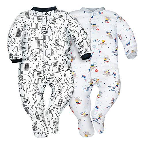 SIBINULO Nino Nina Pijama Beb/é Pelele Pack de 2