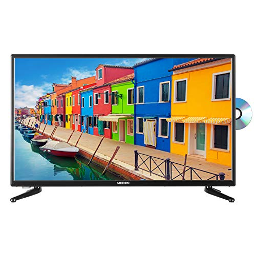 MEDION E13217 80 cm (31,5 Zoll) Fernseher (HD Triple Tuner, DVB-T2 HD, integrierter DVD-Player, CI+, Mediaplayer) (Dvd Mit Tv Zoll 24)