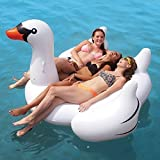 New White Summer Lake Swimming Lounge Pool Large Jumbo Giant Childrens kids Adults Rideable Lounger Ride on Swan Bird Inflatable Float Toy Lilo