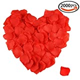 GoFriend 2000pcs Artificial Fabric Silk Flower Rose Petals Wedding Party Bridal Decoration (Red)